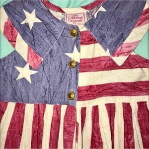 Cottontail Originals Flawless nwot flag dress